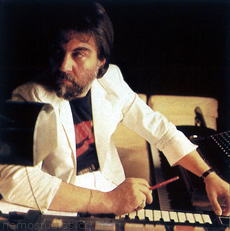 Vangelis at his legendary sound laboratory